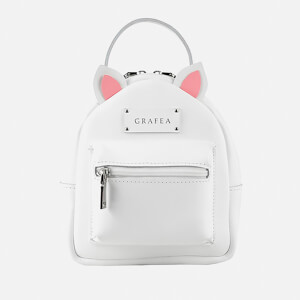 Grafea Women's Mini Zippy Kitty Backpack - White