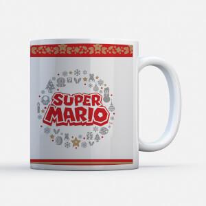 "Taza Navidad Nintendo Super Mario ""Corona Logo"""
