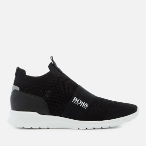 BOSS Green Men's Extreme Knitted Slip-On Trainers - Black