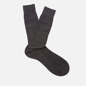 Pantherella Men's Danvers Classic Cotton Socks - Dark Grey