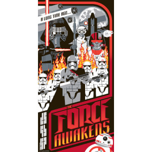 Star Wars - The Force Awakens Print by Mark Daniels (305mm x 610mm)