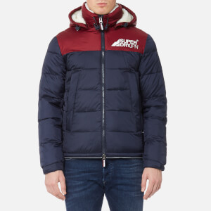 Superdry Men's Mountain Mark Sherpa Coat - Navy/Port