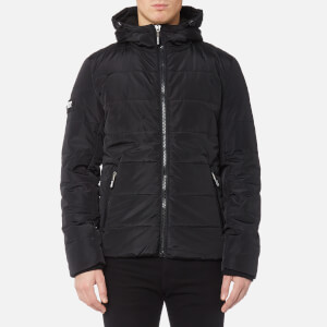 Superdry Men's Sports Puffer Jacket - Black/Black