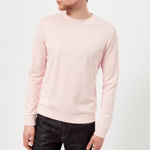 BOSS Green Men's Salbo Logo Sweatshirt - Pink