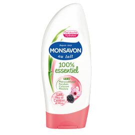 Mon savon Gel Douche - 100% Essentiel – Lait, Fleur de Cerisier et Mûre