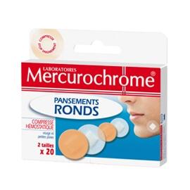 Mercurochrome Pansements ronds pour homme