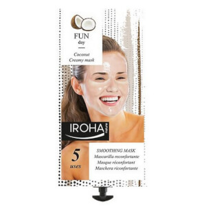 Iroha Nature Masque crème visage réconfortant à la noix de coco et à la rose