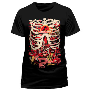 Rick and Morty Men's Anatomy Park T-Shirt - Black