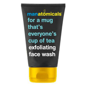 MANATOMICALS FOR A MUG THAT'S EVERYONE'S CUP OF TEA. EXFOLIATING FACE WASH.