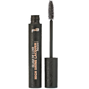p2 cosmetics glam de luxe high shine lacquer mascara