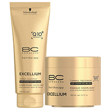 Schwarzkopf Professional BC Excellium Taming Shampoo + Taming Treatment