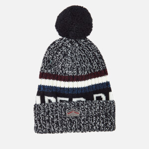 Superdry Men's Super S.D. Logo Beanie - Navy Twist