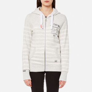 Superdry Women's Je T'Aime Bretton Zip Hoody - Ice Marl