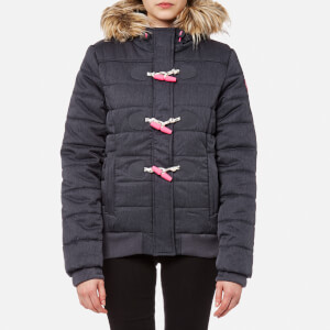 Superdry Women's Marl Toggle Puffle Jacket - Navy Marl