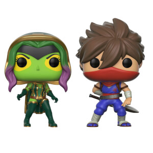 Figurines Pop! Gamora Vs Strider - Marvel Vs Capcom (Lot de 2)