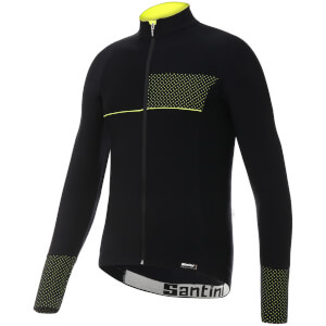 Santini Vega 2.0 Aquazero Long Sleeve Jersey - Black/Yellow