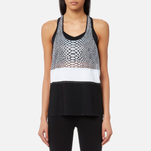Monreal London Women's Racer Tank Top - Silver Reptile