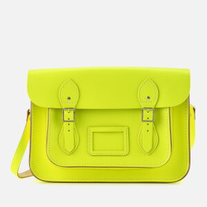 The Cambridge Satchel Company Women's 13 Inch Satchel - Fluoro Yellow/Nickel
