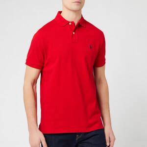 Polo Ralph Lauren Men's Custom Slim Fit Mesh Polo Shirt - Red