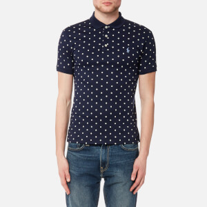 Polo Ralph Lauren Men's Short Sleeve Pima Polo Shirt - Navy Dot