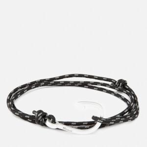 Miansai Men's Rope Bracelet with Silver Hook - Asphalt