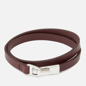 Miansai Men's Moore Wrap Bracelet with Silver Catch - Burgundy