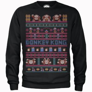 Nintendo Donkey Kong Retro Black Christmas Sweatshirt