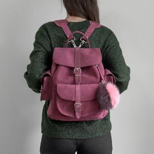 MyBag x Grafea Exclusive Women's Hari Nubuck Backpack - Burgundy: Image 4