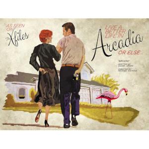 """Affiche X-Files """"Arcadia """" - Impression Fine Art par Acme Archives & J.J. Lendl (Limitée à 100 exemplaires)"""