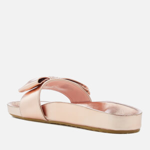 Dune Women's Fenela Leather Slide Sandals - Rose Gold: Image 2