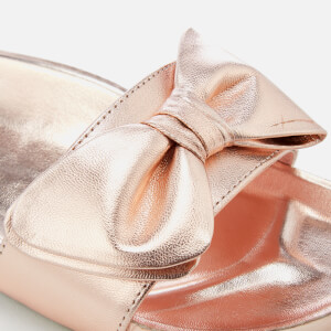 Dune Women's Fenela Leather Slide Sandals - Rose Gold: Image 4