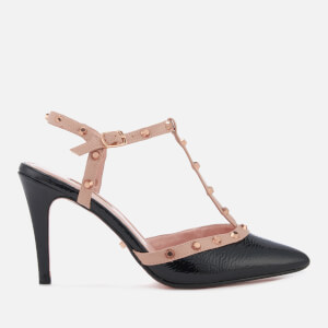 Dune Women's Catelyn Leather Court Shoes - Black