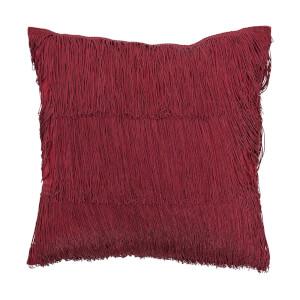 Bloomingville Fringe Detail Cushion - Red