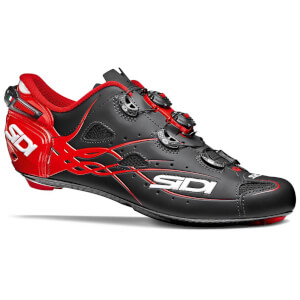 Sidi Shot Matt Road Shoes - Matt Black/Red