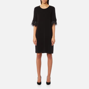 MICHAEL MICHAEL KORS Women's Feather Cuff Dress - Black