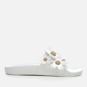 Marc Jacobs Women's Daisy Pave Aqua Slide Sandals - White