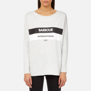 Barbour International Women's Pathhead Logo Sweatshirt - Pale Grey Marl