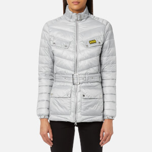 Barbour International Women's Gleann Quilt Jacket - Ice White