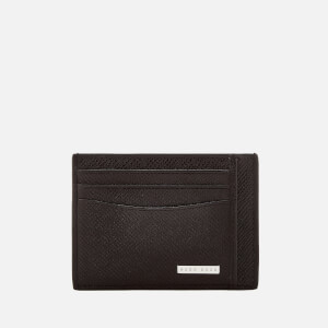 BOSS Black Men's Signature Card Holder - Black