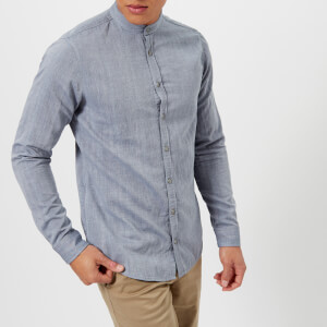 BOSS Orange Men's Eeasy Grandad Shirt - Blue