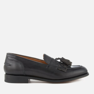 Grenson Men's Mackenzie Hand Painted Leather Tassle Loafers - Dark Grey
