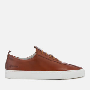 Grenson Men's Sneaker 1 Hand Painted Leather Cupsole Trainers - Tan