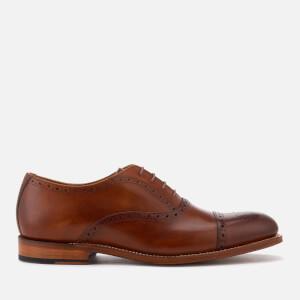 Grenson Men's Matthew Hand Painted Leather Toe Cap Brogues - Tan