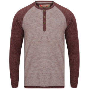 Tokyo Laundry Men's Jephro Long Sleeve Henley Top - Burgundy
