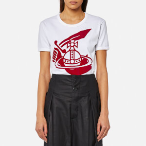 Vivienne Westwood Anglomania Women's Classic T-Shirt with Arm and Cutlass Print - White