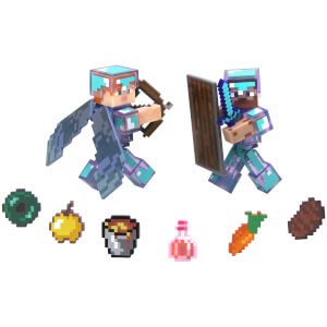 Minecraft Steve Hardcore Survival Figures Pack