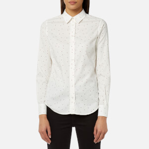 GANT Women's Sprinkled Star Oxford Shirt - White