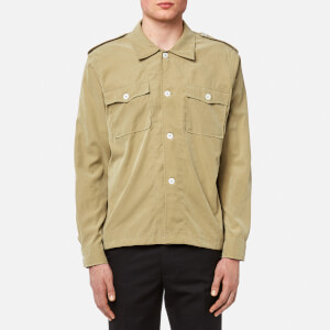Our Legacy Men's Casual Military Shirt - Sand Tech Cupro