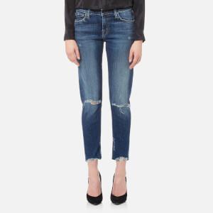 J Brand Women's Sadey Slim Straight James Jeans - Revoke Destruct