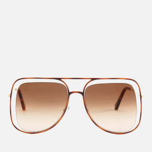 Chloe Women's Poppy Aviator Sunglasses - Havanna/Brown